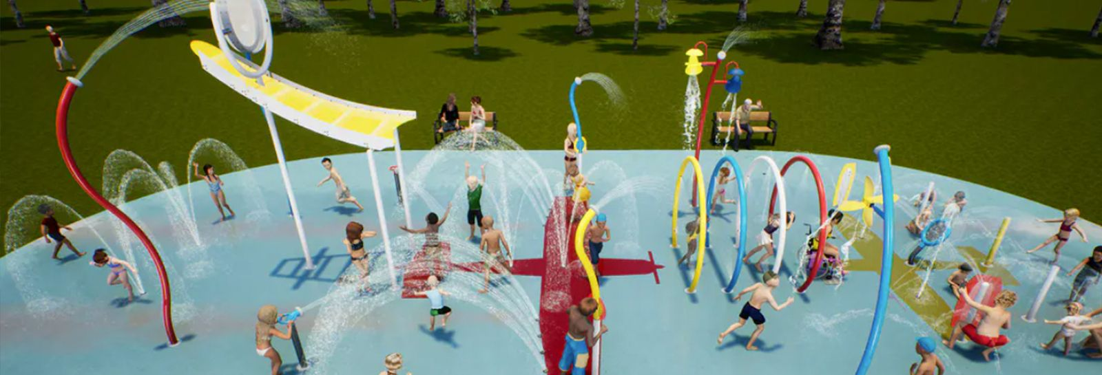 An artists impression of Stante Reserve Waterplay Park banner image
